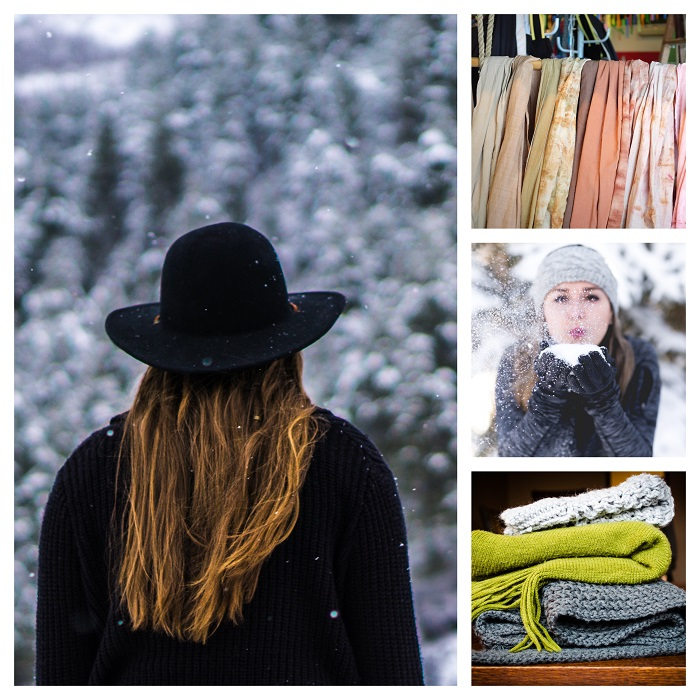 photo collage of Winter images