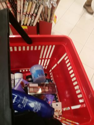 My basket at the drugstore