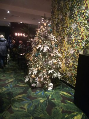 Christmas tree in a restaurant