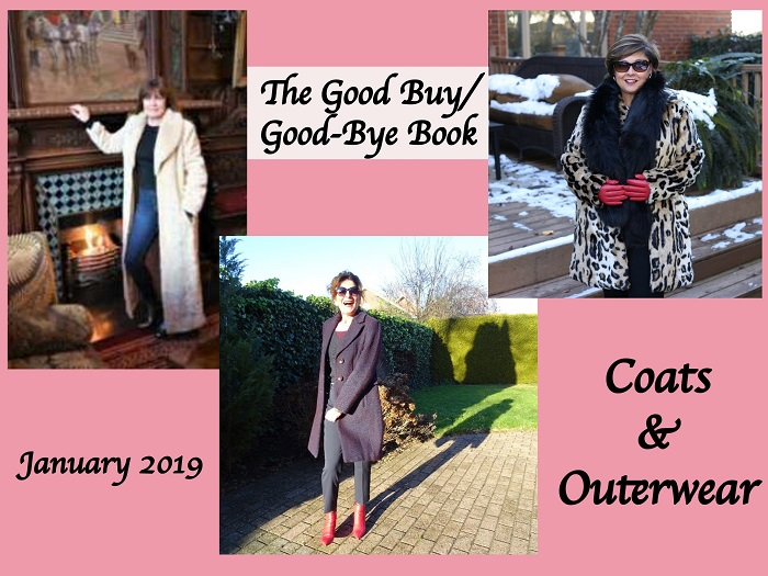 photo collage of wintercoats worn by three fashion bloggers