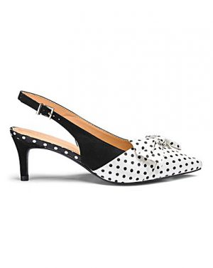 fabulous polka dot slingbacks