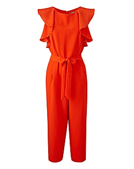 Orange jumpsuit with fringles
