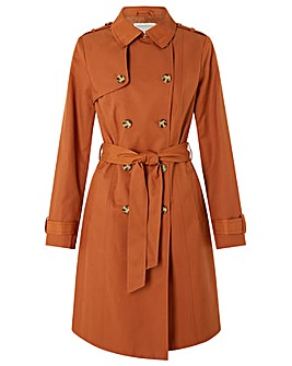 classic trench coat in brown