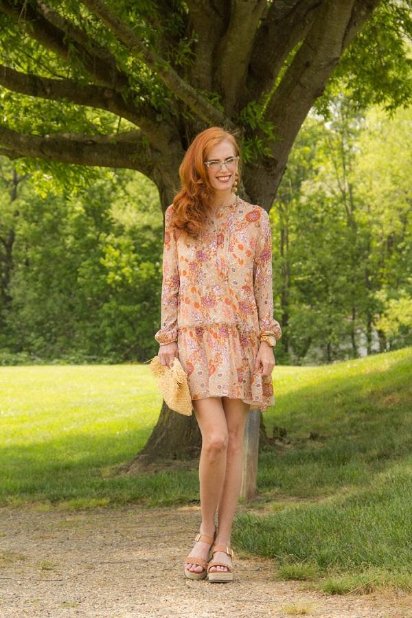 elegant dress by a fashion blogger