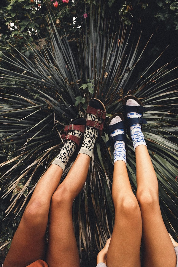 Socks and sandal trend this summer