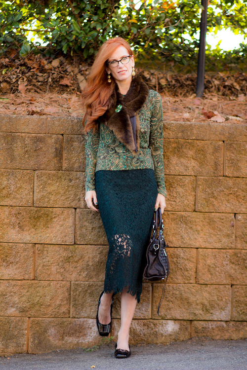 outfit in lace