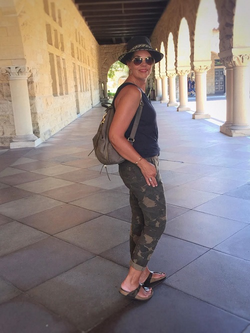 olive green camo trousers