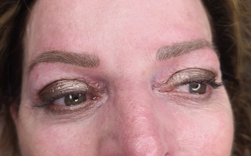 eyebrows after the 3th treatment