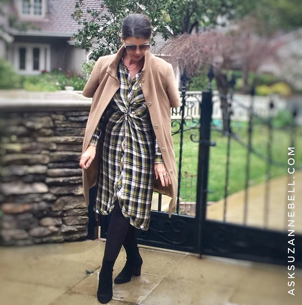 fabulous dress and poncho coat