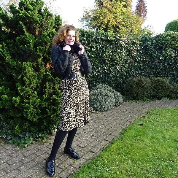 Leopard print and faux fur