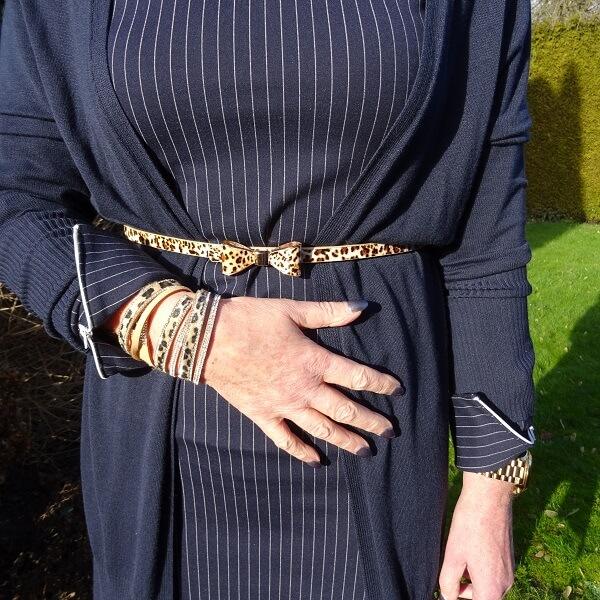 leopard print belt and bracelets