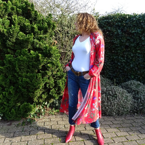 red ankle boots outfit