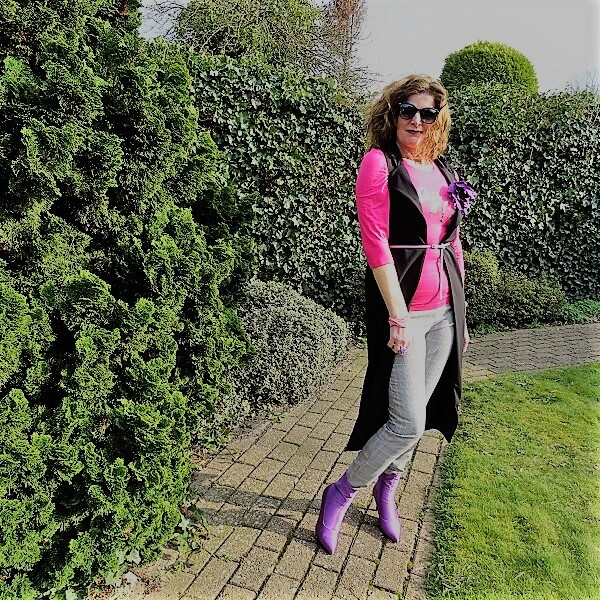 lilac ankle boots