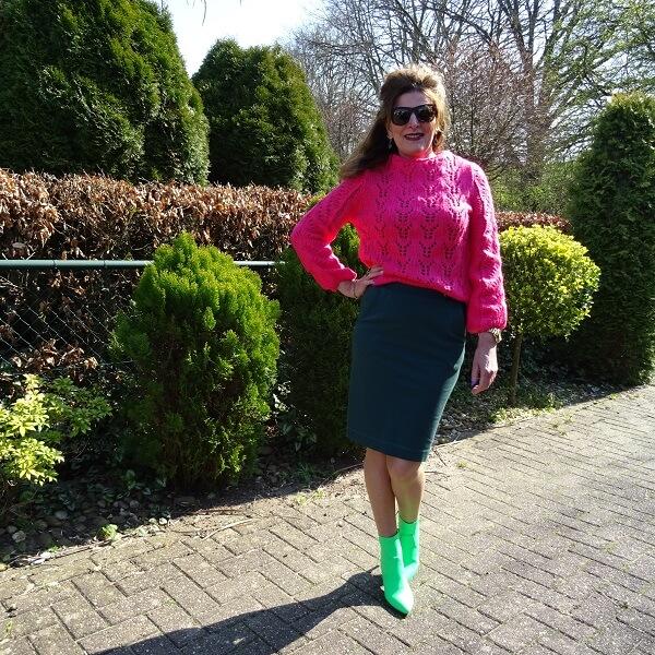 wearing neon over 50