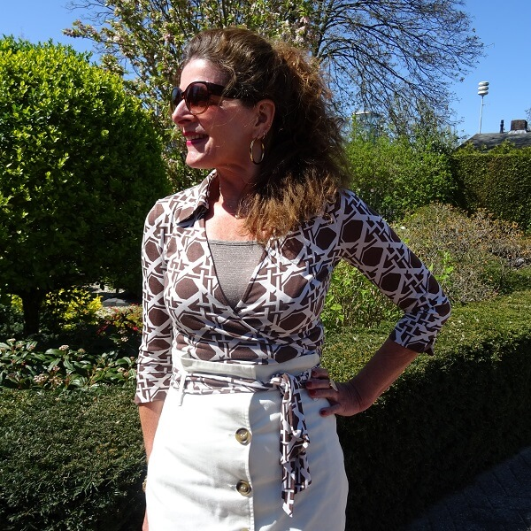 pre loved blouse by Diane von Furstenberg