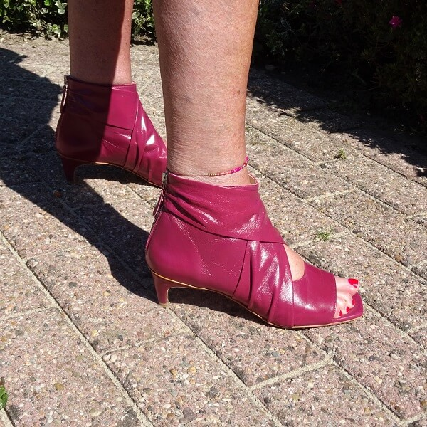 fuchsia ankle boots
