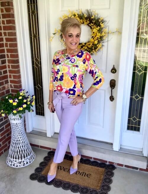 fresh florals blouse