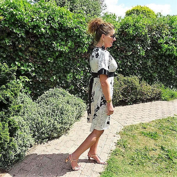 dress with obi belt
