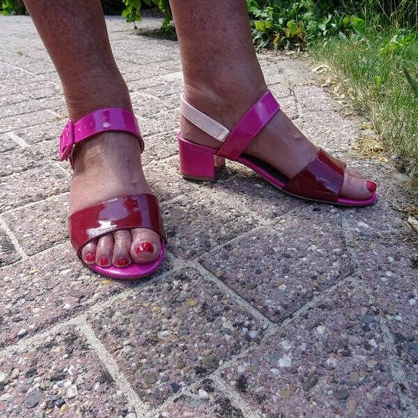 3 shade pink sandals