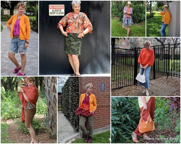 Orange collage