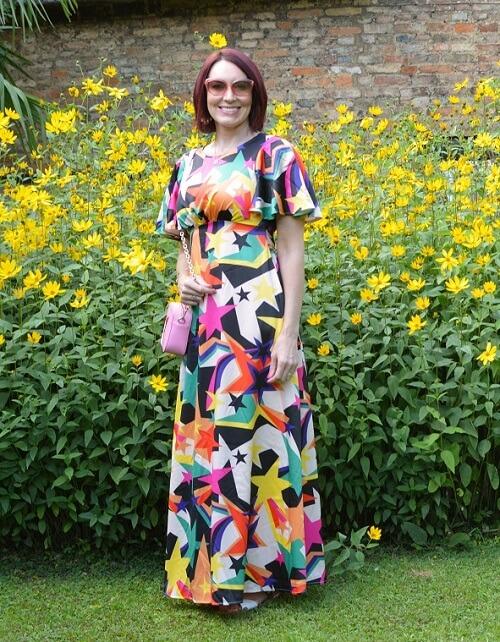 maxi dress and cross body bag