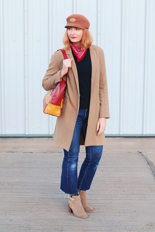long blazer over jeans