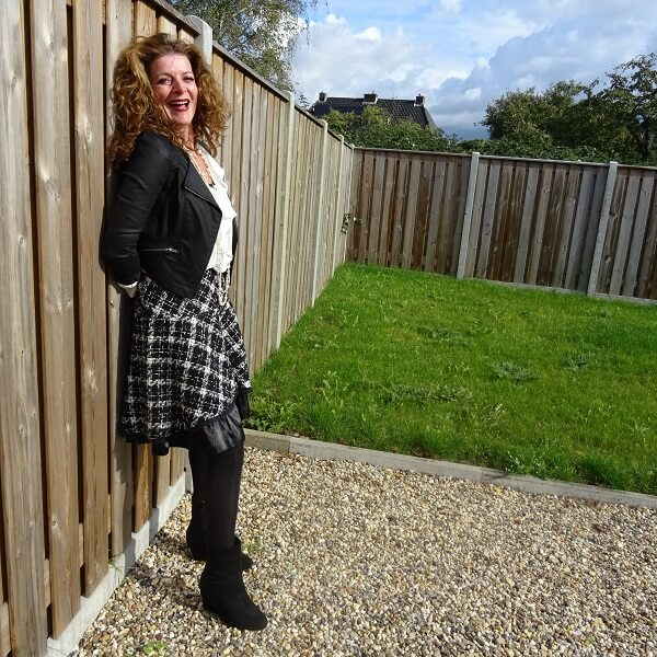 plaid tweed skirt