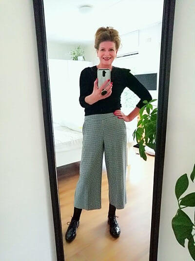 Culotte and brogues