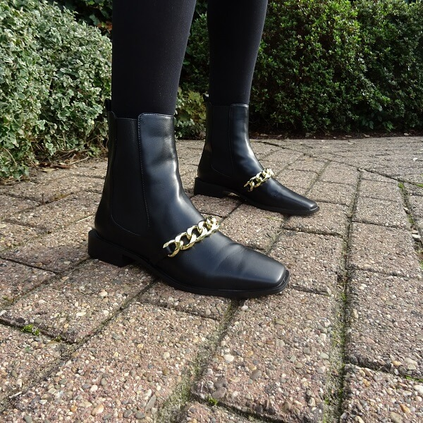 boots with golden detail