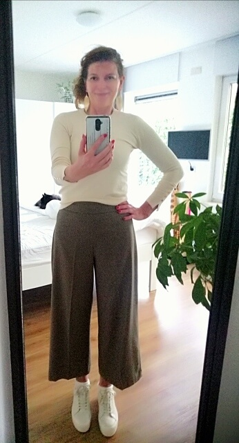 culotte with sneakers