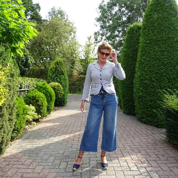 culotte in denim