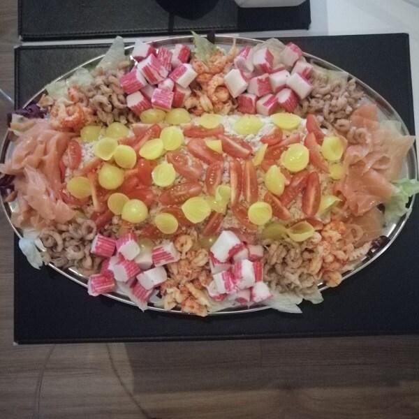 fish salad for Christmas Eve