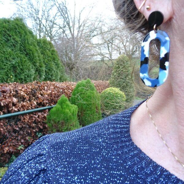blue lightweight earrings