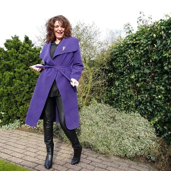 purple waterfall coat
