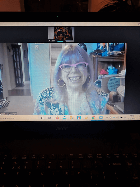 Zoom meeting with Sheila