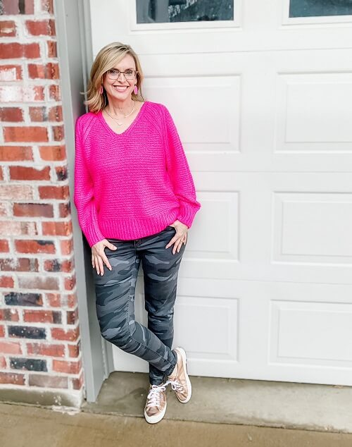 pop of color outfit