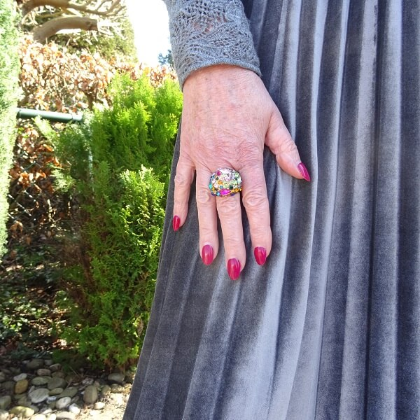 statement colored ring