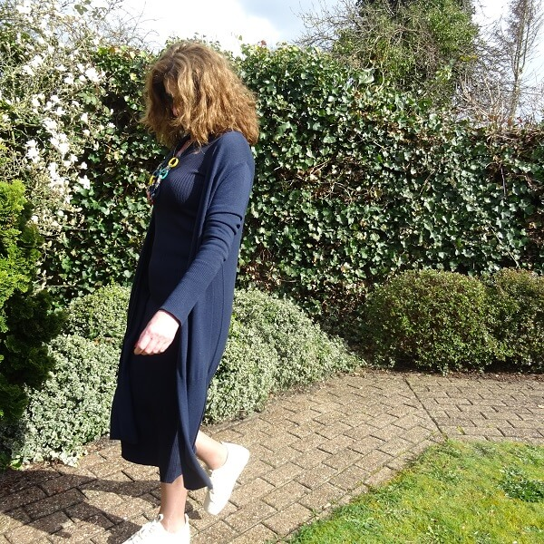 navy blue monochrome outfit