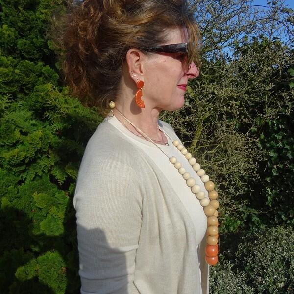 rust clay earrings