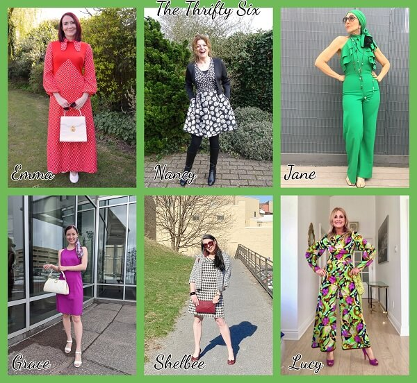 collage of fashion bloggers outfits