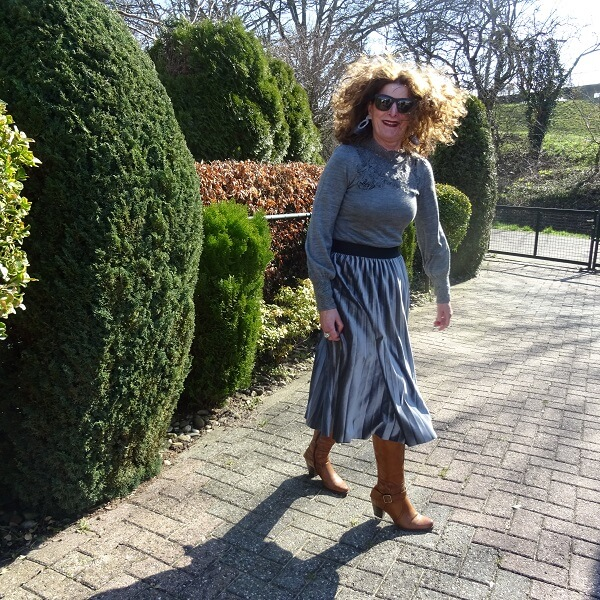 my hair in the wind