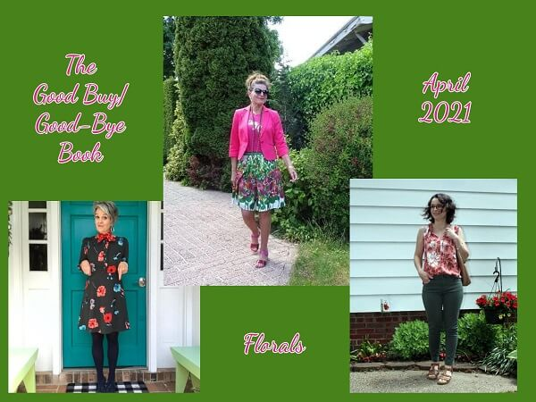 collage of floral outfits