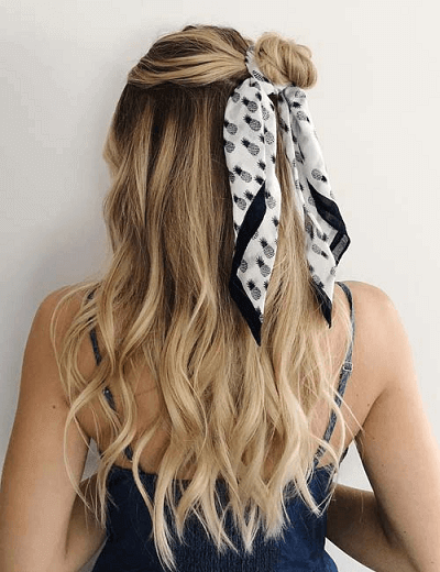 wearing a scarf in your hair