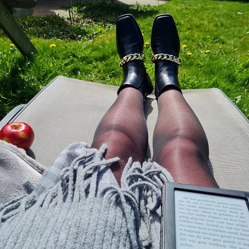 sitting in the sun when it's still cold