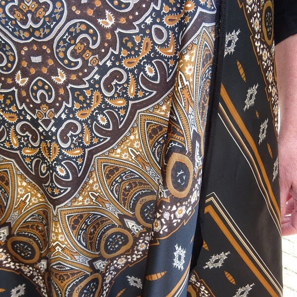 close up of the dress
