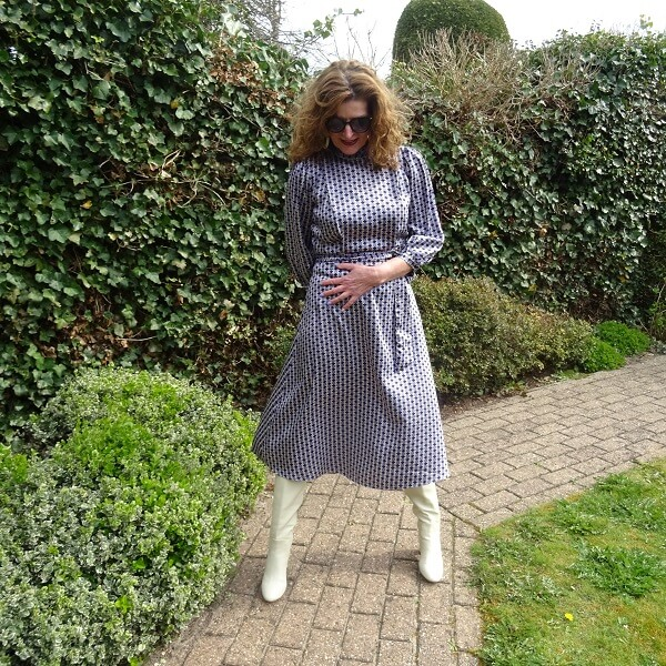 Lilac Dress & Fancy Friday linkup