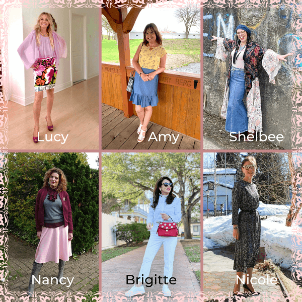 collage of style bloggers