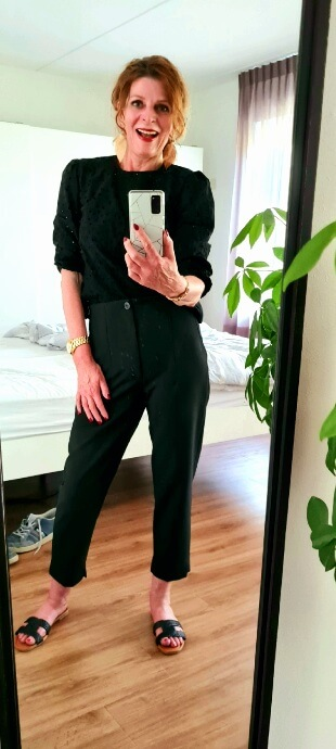 Busy week black monochrome outfit