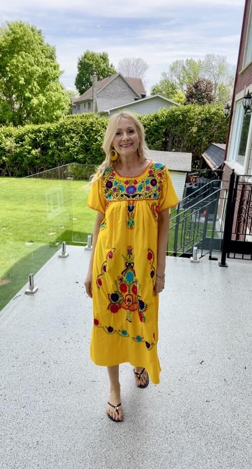 maxi dress worn by fashion blogger
