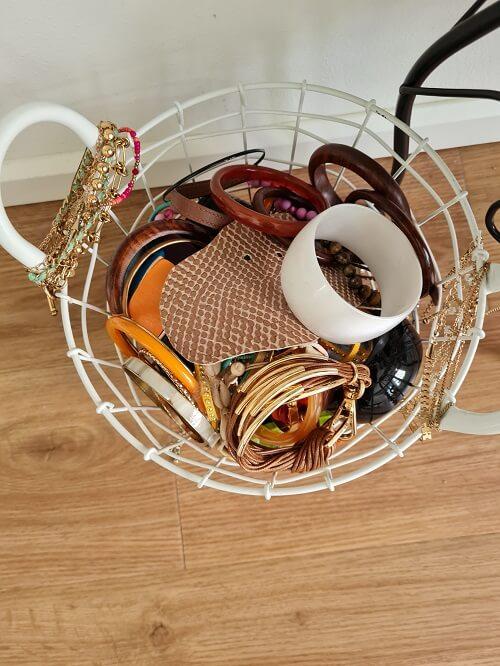 basket full with bracelets